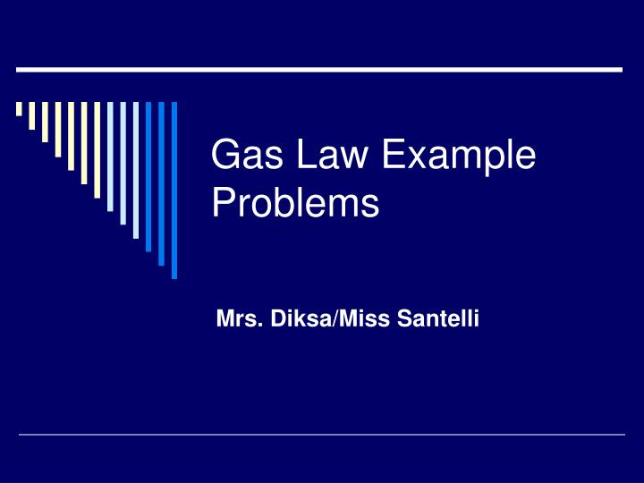 gas law example problems n.