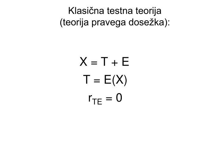 Klasična testna teorija