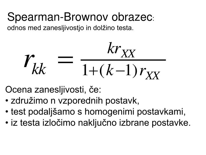 Spearman-Brownov obrazec