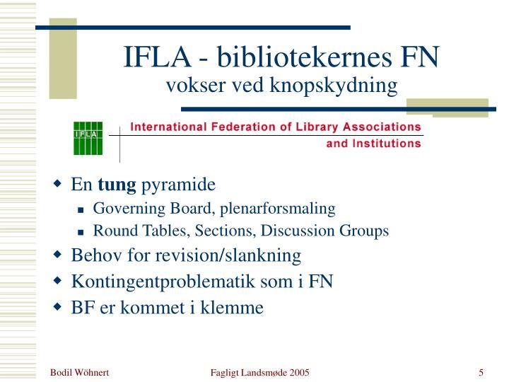 IFLA - bibliotekernes FN