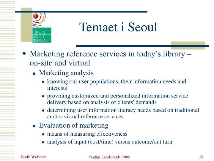 Temaet i Seoul