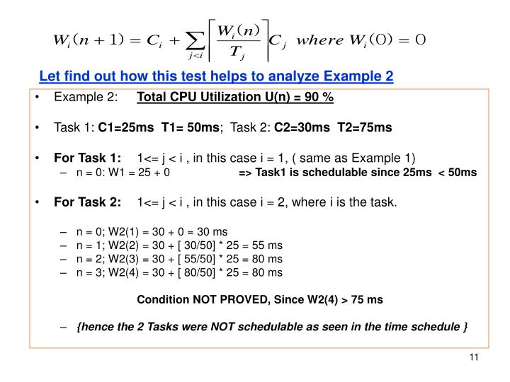 Let find out how this test helps to analyze Example 2