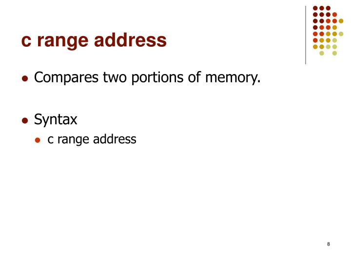 c range address