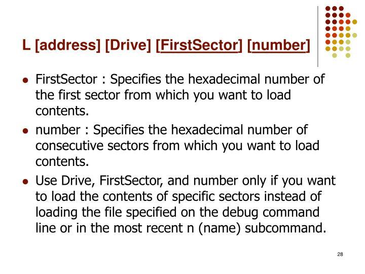 L [address] [Drive] [