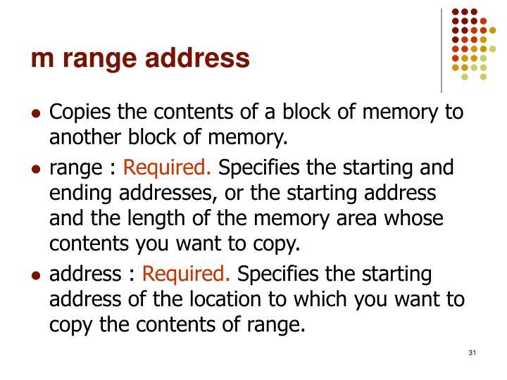 m range address
