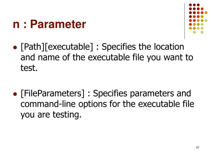 n : Parameter