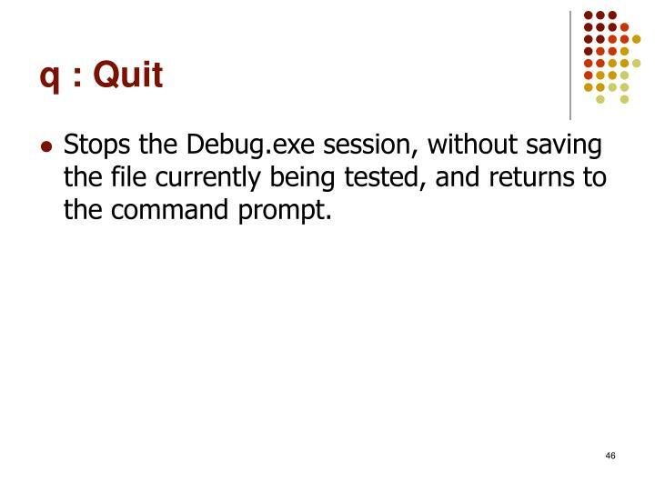 q : Quit