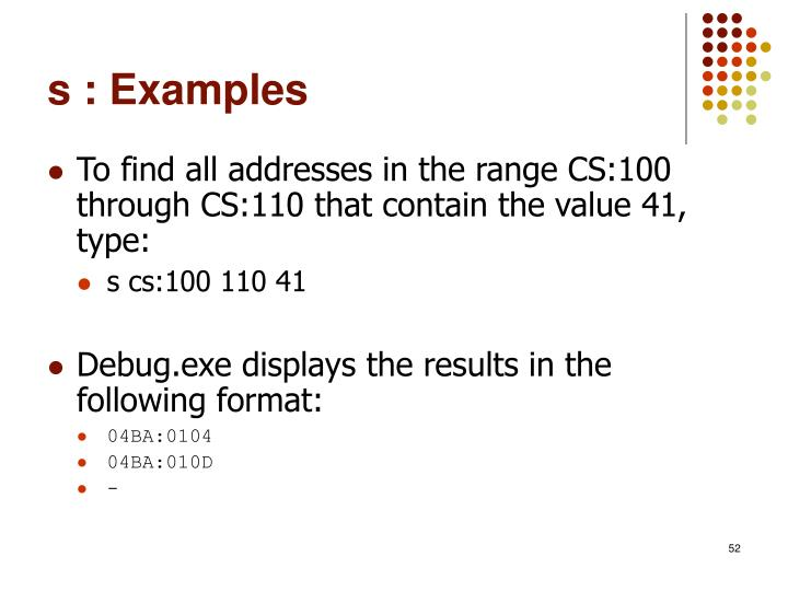 s : Examples