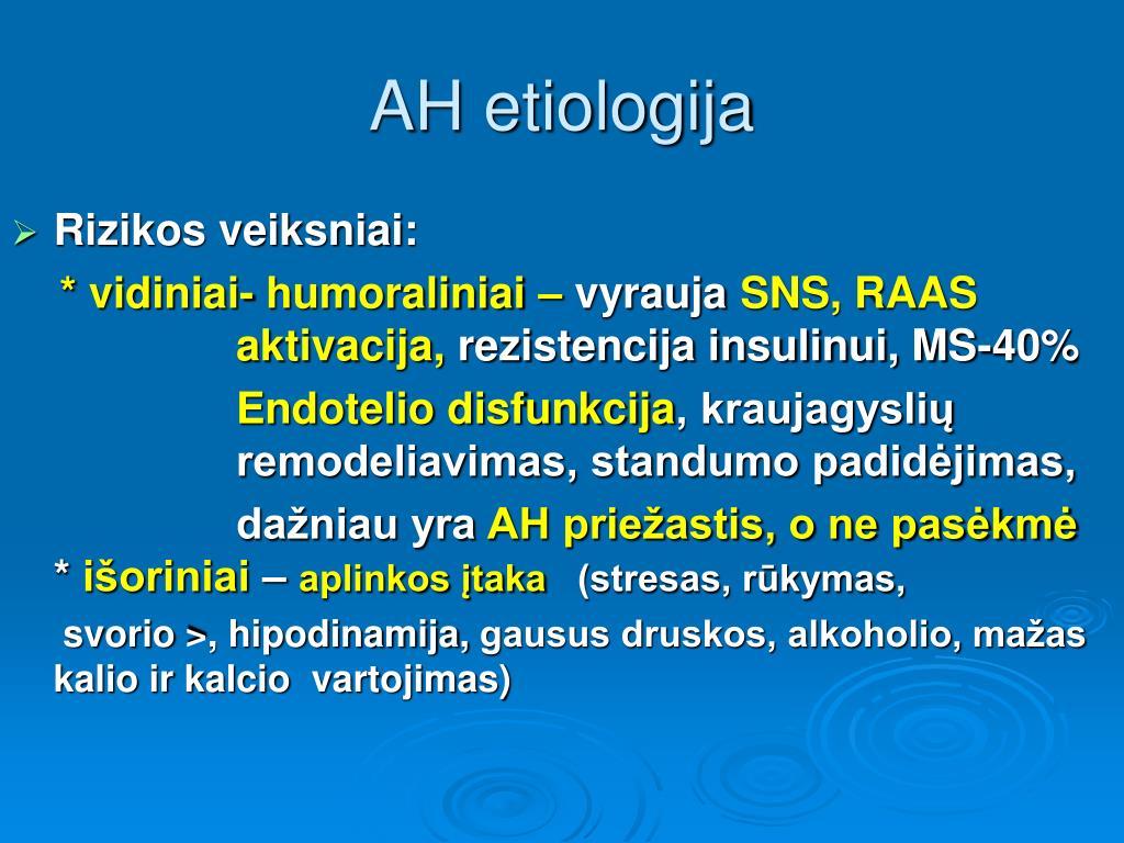 hipertenzijos simpatolitikai