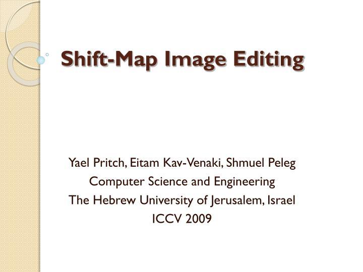 shift map image editing n.