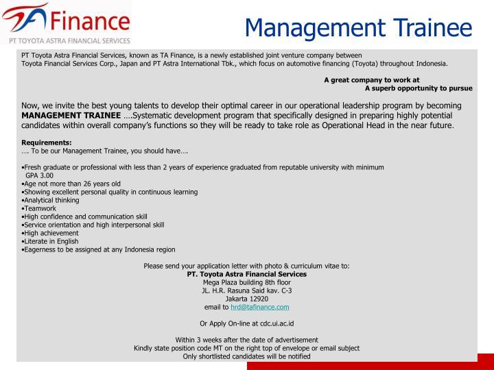 PPT - Management Trainee PowerPoint Presentation, free ...
