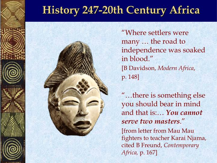 history 247 20th century africa n.