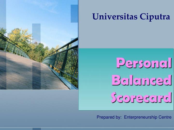 personal balanced scorecard n.