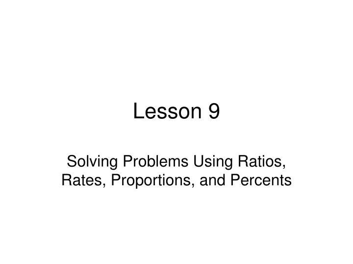 lesson 9 n.