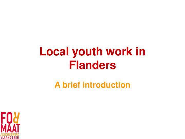 local youth work in flanders n.