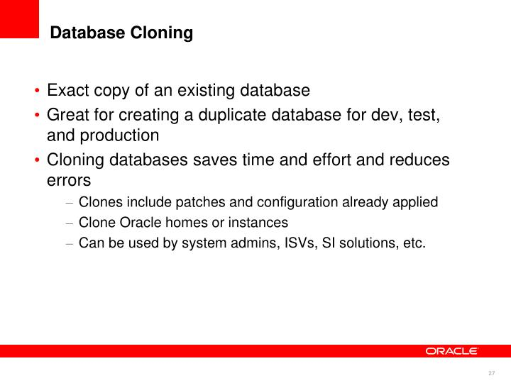 Exact copy of an existing database