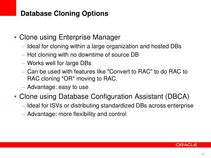 Clone using Enterprise Manager