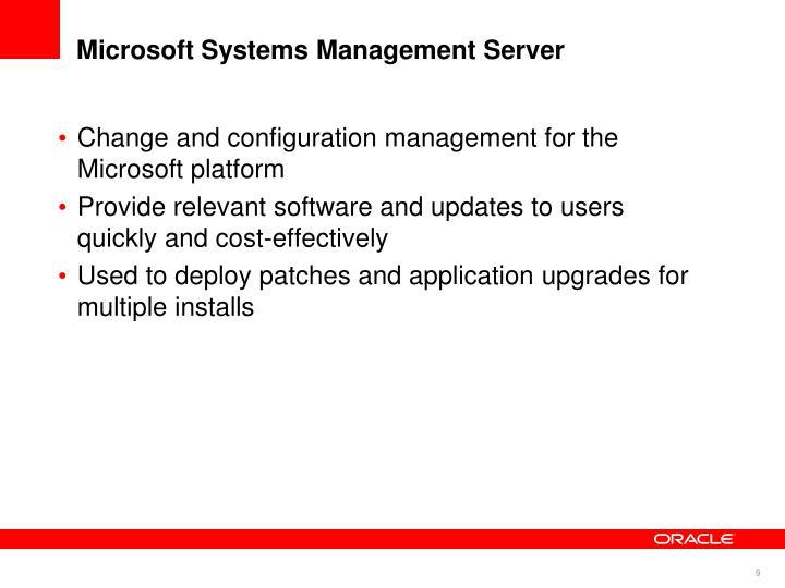 Microsoft Systems Management Server