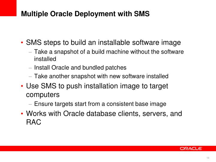 Multiple Oracle Deployment with SMS