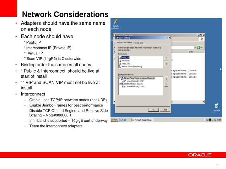 Network Considerations