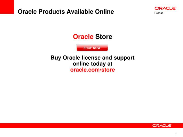 Oracle Products Available Online