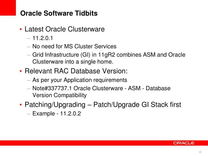 Oracle Software Tidbits