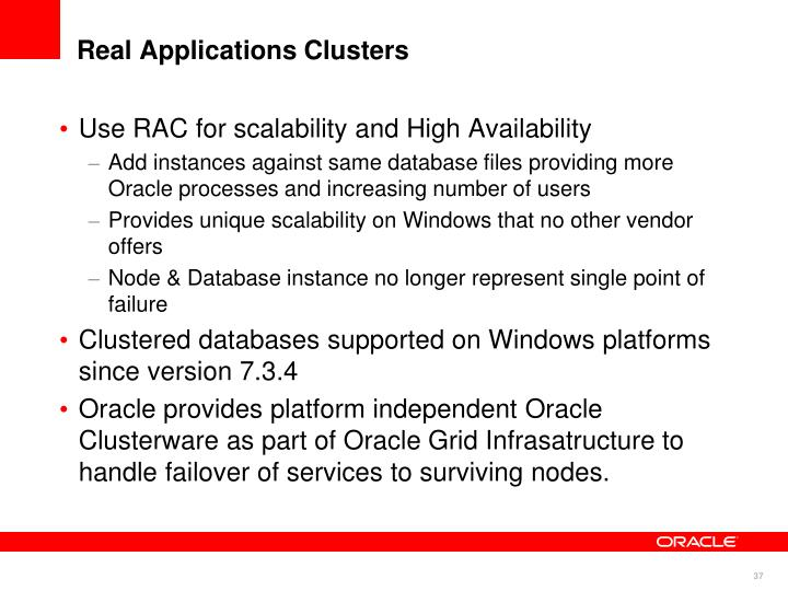 Real Applications Clusters