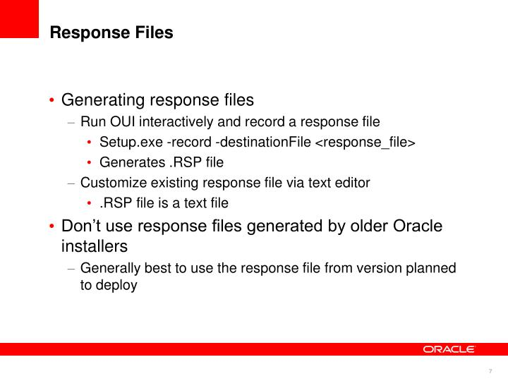 Response Files