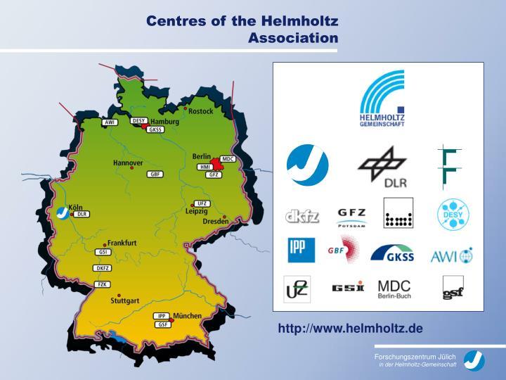 Centres of the Helmholtz Association
