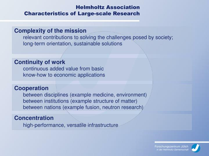 Complexity of the mission