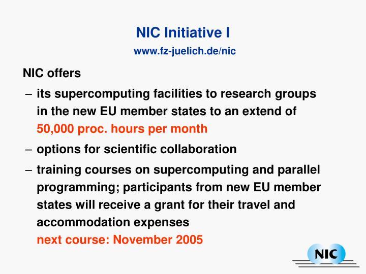NIC offers
