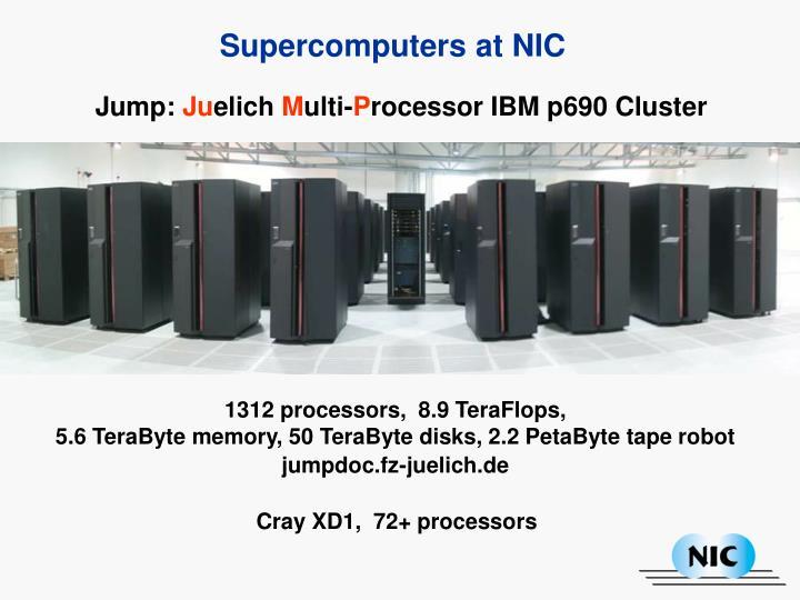 Supercomputers at NIC