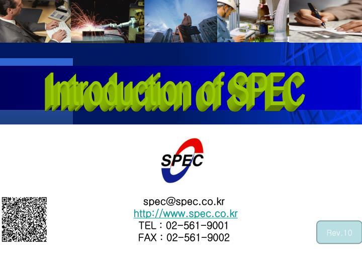 spec@spec co kr http www spec co kr tel 02 561 9001 f ax 02 561 9002 n.