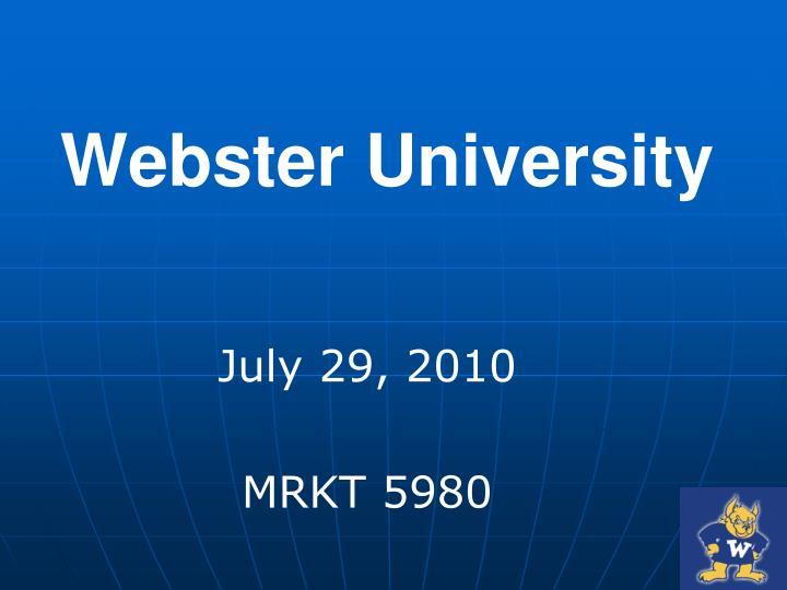 webster university n.