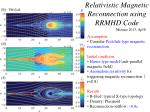 relativistic magnetic reconnection using rrmhd code