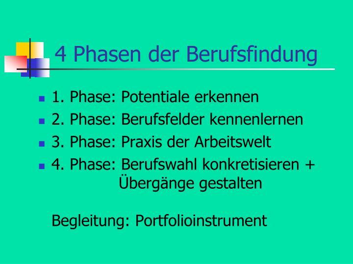 4 phasen der berufsfindung