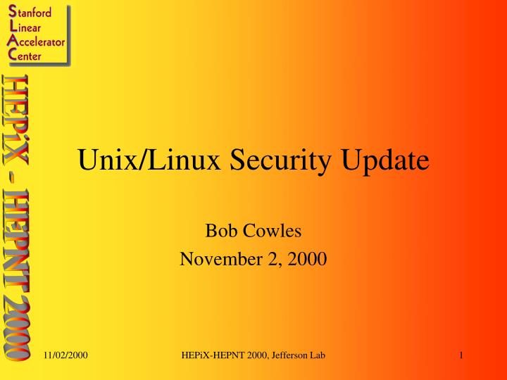 unix linux security update n.