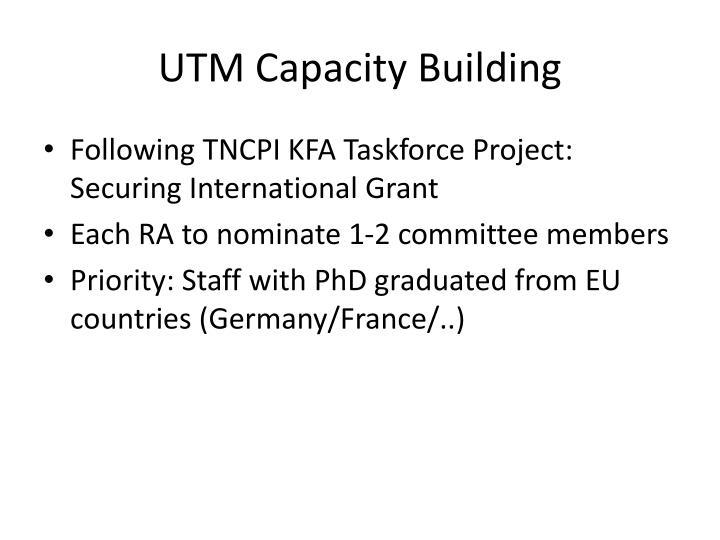 UTM Capacity Building