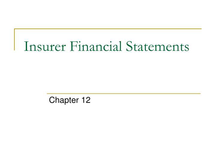 insurer financial statements n.