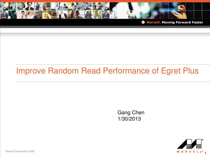 improve random read performance of egret plus n.