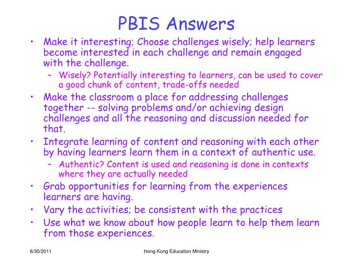 PBIS Answers
