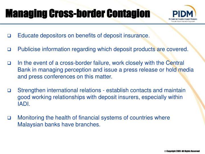 Managing Cross-border Contagion