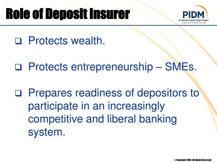 Role of Deposit Insurer