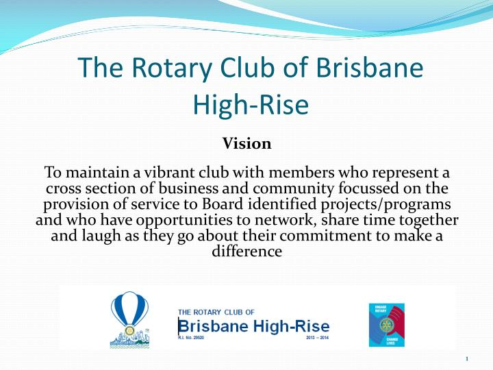 the rotary club of brisbane high rise n.