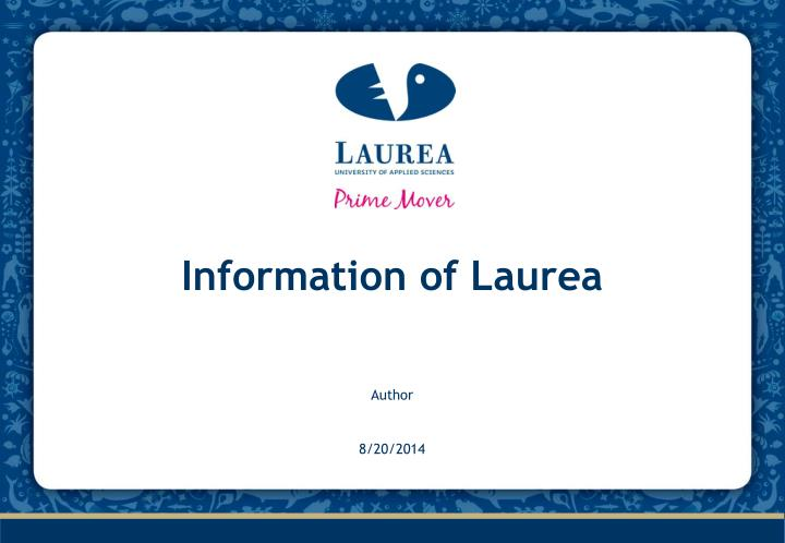 information of laurea n.