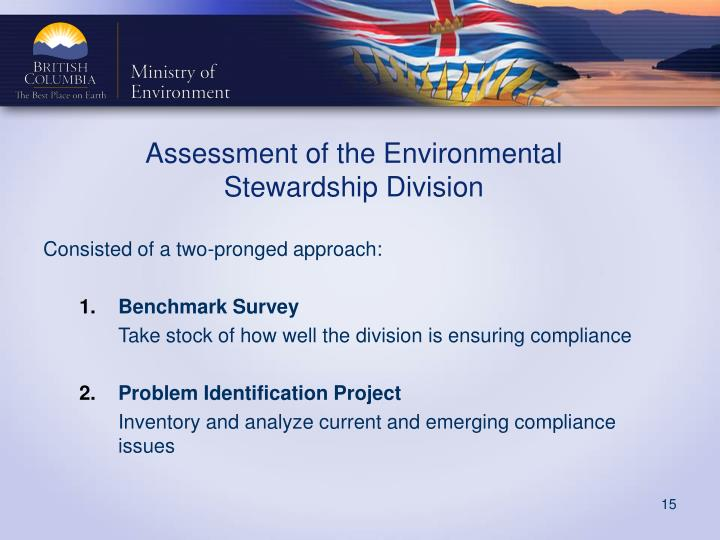 Assessment of the Environmental Stewardship Division