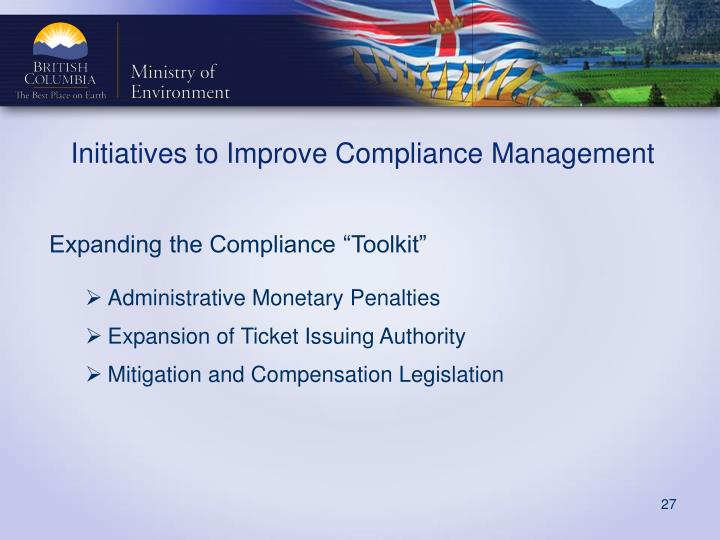 "Expanding the Compliance ""Toolkit"""