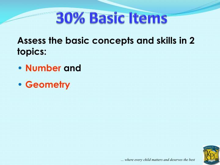 30% Basic Items