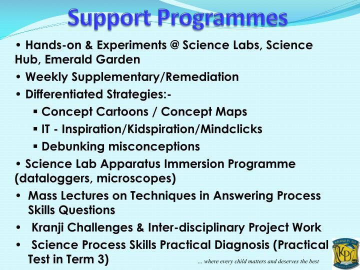 Support Programmes