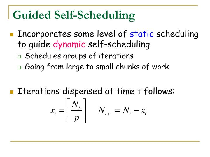 Guided Self-Scheduling